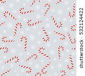 christmas vector seamless... | Shutterstock .eps vector #532124422
