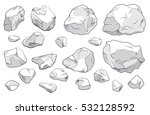 stone set. large and small... | Shutterstock .eps vector #532128592