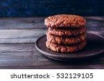 Homemade Chocolate Cookies On...