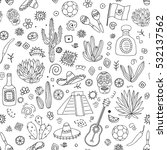 doodles seamless pattern of... | Shutterstock .eps vector #532137562