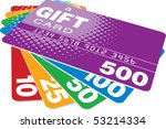 color gift cards | Shutterstock . vector #53214334