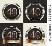 forty years anniversary... | Shutterstock .eps vector #532145842