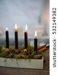 Small photo of Four advent candles burning