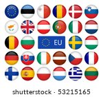 vector set of european union... | Shutterstock .eps vector #53215165