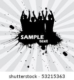 team on the background   vector ... | Shutterstock .eps vector #53215363