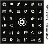 digital marketing icons... | Shutterstock . vector #532157602
