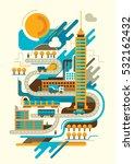 retro style illustration of... | Shutterstock .eps vector #532162432