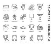 vector line icons of american... | Shutterstock .eps vector #532162492