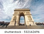the arc de triomphe de l'etoile ... | Shutterstock . vector #532162696