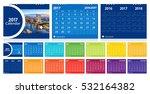 desk calendar 2017 layout... | Shutterstock .eps vector #532164382