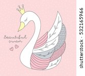 Beautiful Princess Swan Vector...
