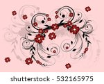 abstract floral ornament on a... | Shutterstock . vector #532165975