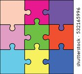 a puzzle pieces vector... | Shutterstock .eps vector #532165996