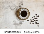 large gourmet cup of coffee on... | Shutterstock . vector #532173598