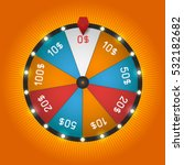 color lucky wheel template.... | Shutterstock .eps vector #532182682