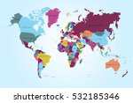 world map countries vector on... | Shutterstock .eps vector #532185346