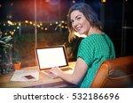 portrait of businesswoman... | Shutterstock . vector #532186696