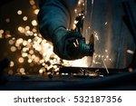 metal grinding on steel pipe...