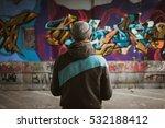 Graffiti Artist Standing Near...