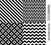 seamless geometric pattern set... | Shutterstock .eps vector #532188886