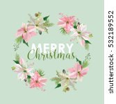 new year and christmas card  ... | Shutterstock .eps vector #532189552