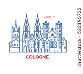 cologne city architecture retro ... | Shutterstock .eps vector #532190722