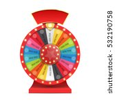 colorful wheel of luck or... | Shutterstock .eps vector #532190758