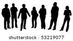 man giving a presentation ... | Shutterstock .eps vector #53219077