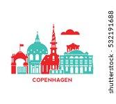 copenhagen city architecture... | Shutterstock .eps vector #532191688