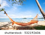 hammock on the beach in... | Shutterstock . vector #532192606