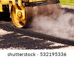 asphalting of the road with... | Shutterstock . vector #532195336