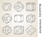 set of geometric crystals.... | Shutterstock .eps vector #532195738