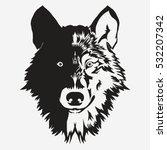 wolf bolt emblem  mascot head... | Shutterstock .eps vector #532207342
