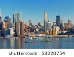 Urban City Skyline  Manhattan...