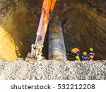 works on the dug out oil... | Shutterstock . vector #532212208