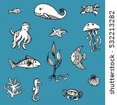 hand drawn vector illustrations ...   Shutterstock .eps vector #532213282