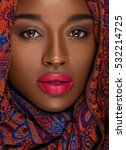 nubian queen   natural makeup | Shutterstock . vector #532214725