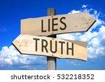 Lies  Truth   Wooden Signpost