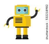 Funny Vector Robot In Flat...