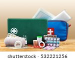 first aid kit. | Shutterstock . vector #532221256