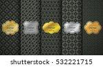 golden vintage frame on black... | Shutterstock .eps vector #532221715