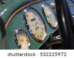Vintage Car Dashboard With...
