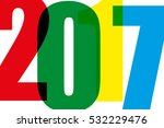 happy new year 2017 on a white... | Shutterstock .eps vector #532229476