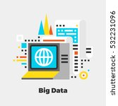 big data flat icon. material... | Shutterstock .eps vector #532231096