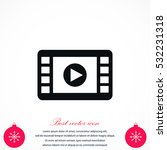 movie film strip vector icon ... | Shutterstock .eps vector #532231318
