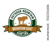 mountain goat logo design... | Shutterstock .eps vector #532231606