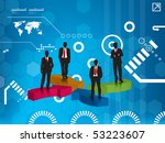 business team blue background | Shutterstock .eps vector #53223607