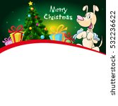 funny xmas design with... | Shutterstock .eps vector #532236622