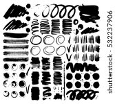 vector ink and paint textures... | Shutterstock .eps vector #532237906