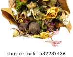 Dry Bouquet Of Flowers Isolate...
